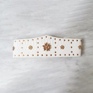 PrettyLittleThing White Gold Studded and Star Belt